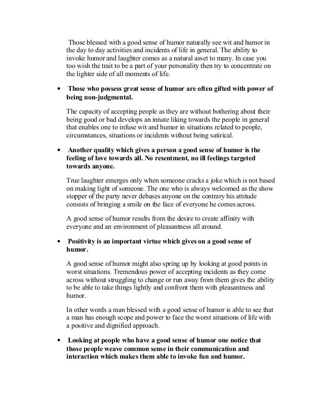 Essay on sense of humor top personal statement editor services us