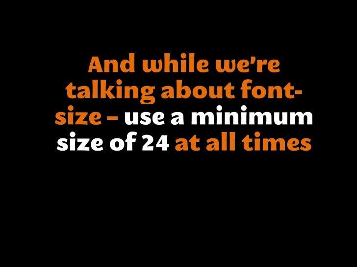 Good slides matter