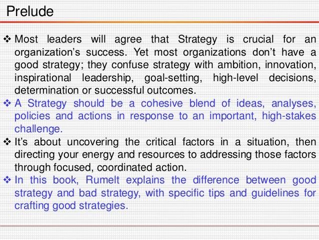Good Strategy Bad Strategy Slide 3