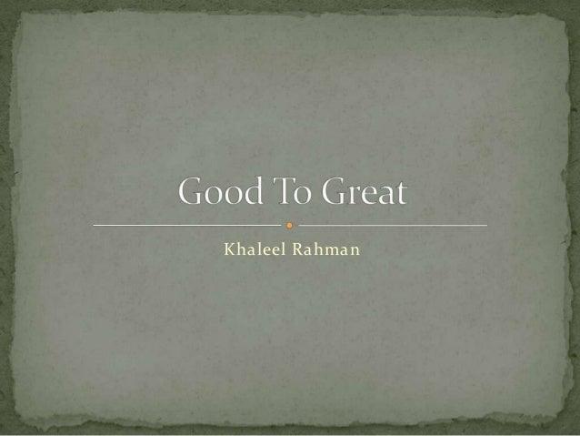 Khaleel Rahman