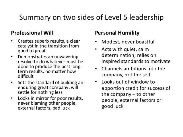 level 5 leadership summary