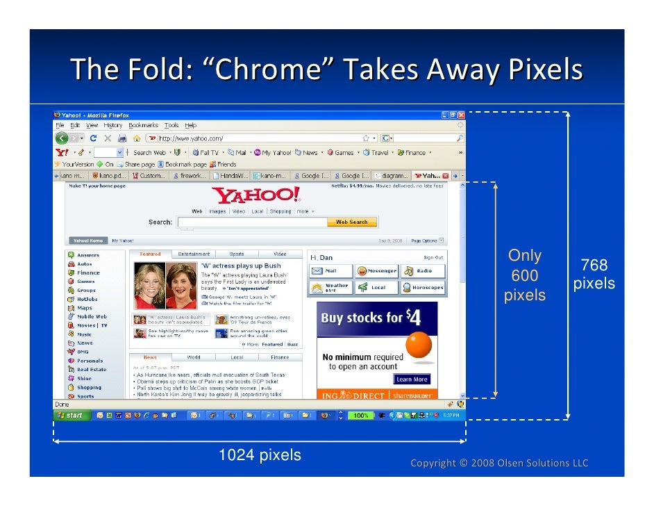 """TheFold:""""Chrome""""TakesAwayPixels                                               Only                                   ..."""