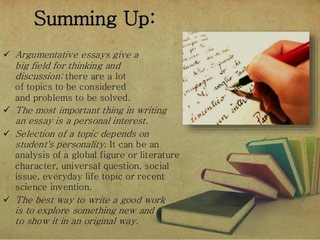 Good topics for argumentative essay