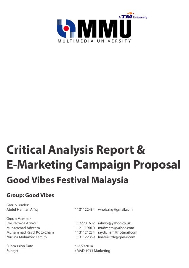 Critical analysis on marketing communications