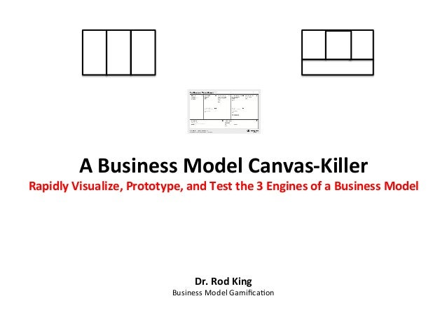 A	   Business	   Model	   Canvas-­‐Killer	     Rapidly	   Visualize,	   Prototype,	   and	   Test	   the	   3	   Engines	 ...