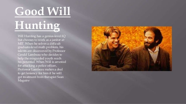 an analysis of the introductory scene in good will hunting 15 things you probably didn't know about good will hunting you like  apples  2 and the whole farting wife scene was unscripted tap to play  gif  damon and affleck cried the first day of filming miramax films.