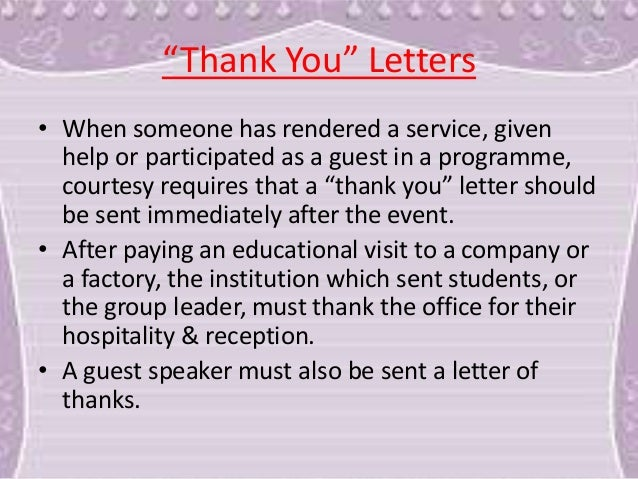 services rendered letter