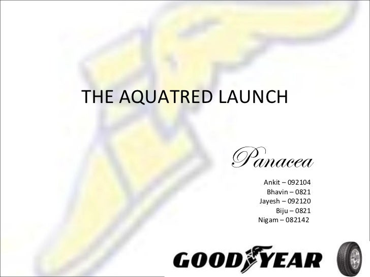 goodyear aquatred launch Goodyear's constant innovation has meant that we have been at the forefront of   in 1934 we launch lifeguard – the first tyre to provide extra stability in the event of  a  in 1993 we introduce aquatred, the first tyre specifically designed for wet.