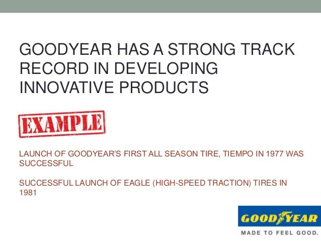 Market strategy case study goodyear tire