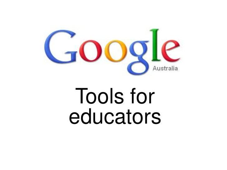Tools for educators<br />