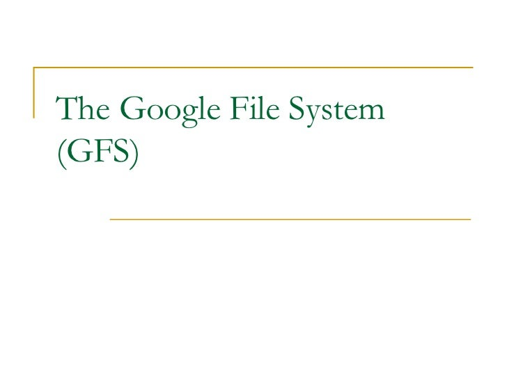 The Google File System(GFS)