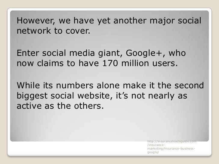 However, we have yet another major socialnetwork to cover.Enter social media giant, Google+, whonow claims to have 170 mil...