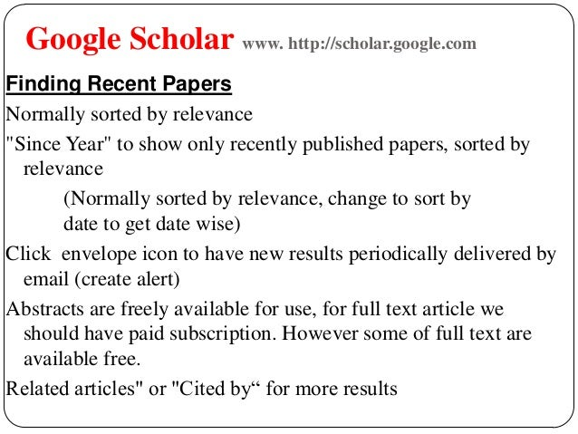 how to find published date on google scholar