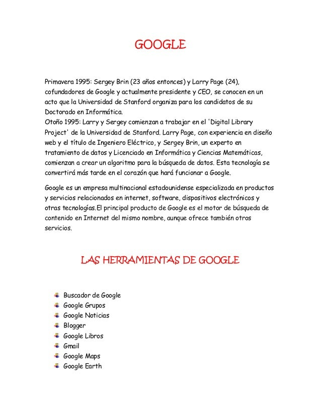 GOOGLE Primavera 1995: Sergey Brin (23 años entonces) y Larry Page (24), cofundadores de Google y actualmente presidente y...