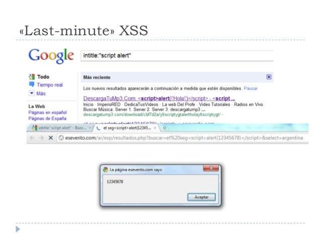 «Last-minute» XSS