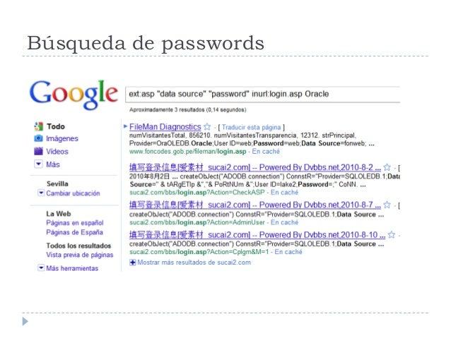 Búsqueda de passwords