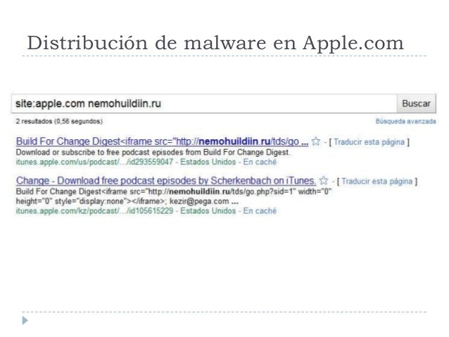 Distribución de malware en Apple.com