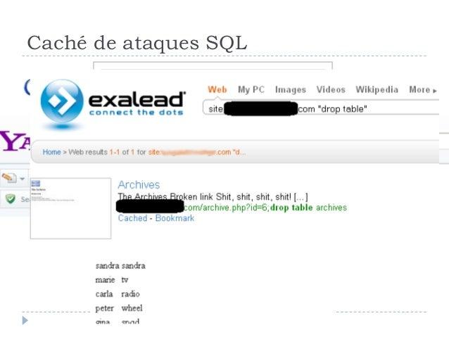 Caché de ataques SQL