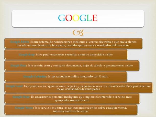  Google Alerts: Es un sistema de notificaciones mediante el correo electrónico que envía alertas basadas en un término de...