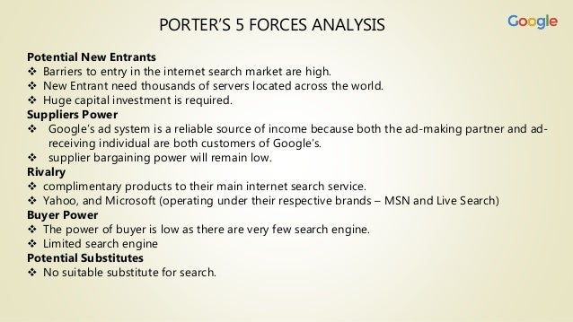 Google case study 5 forces