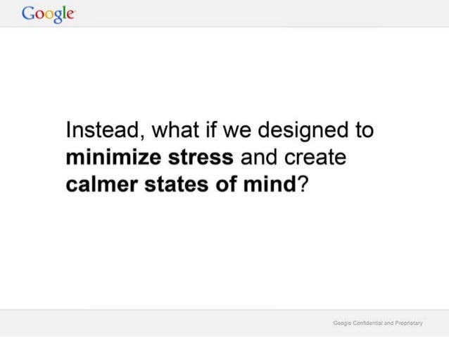Google Deck on Digital Wellbeing 'A Call to Minimize Distraction and Respect Users' Attention'