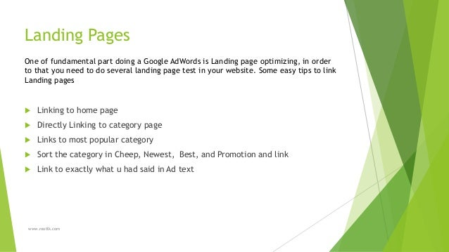 Adwords Test Different Landing Pages