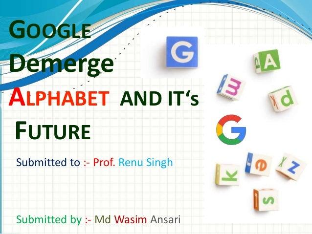 Google Alphabet Demerger
