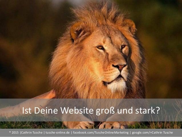 ® 2015  Cathrin Tusche   tusche-online.de   facebook.com/TuscheOnlineMarketing   google.com/+Cathrin Tusche Ist Deine Webs...