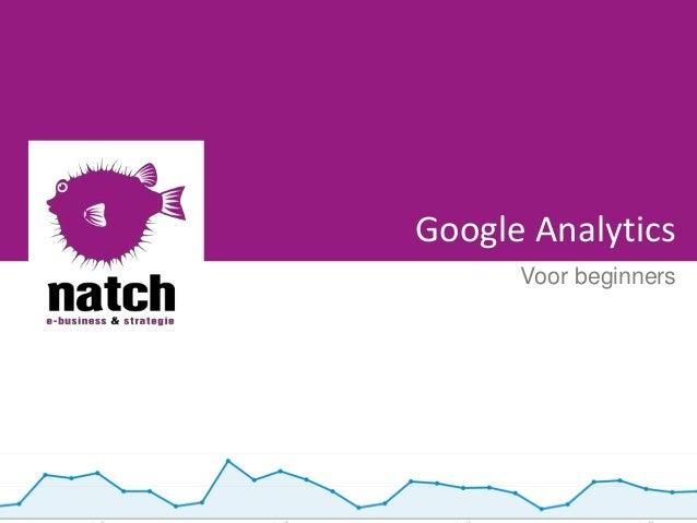 Google Analytics Voor beginners