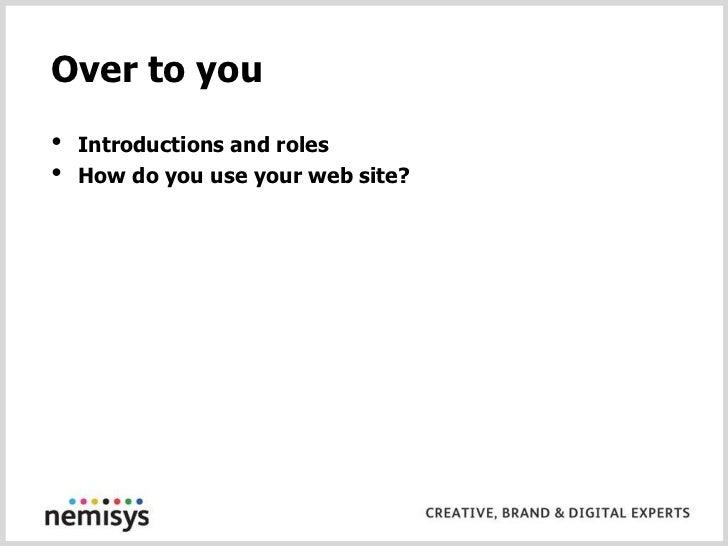 Or email john@nemisys.uk.com</li></li></ul><li>Before we start – your history<br />