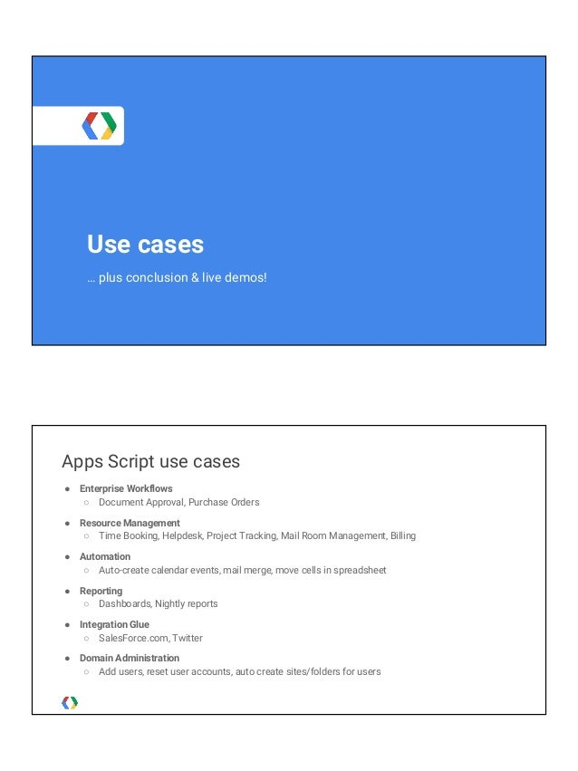 Google Apps Script: Accessing G Suite & other Google