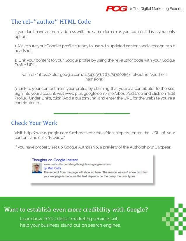 How to Set Up Google+ Authorship Slide 2