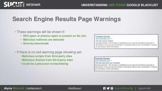 Sucuri Webinar: Understand and Fix Google Blacklist Warnings