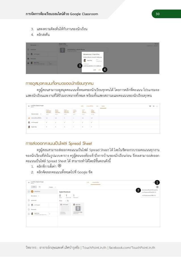 32 วิทยากร : อาจารย์กฤษณพงศ์ เลิศบารุงชัย | TouchPoint.in.th | facebook.com/TouchPoint.in.th การจัดการห้องเรียนออนไลน์ด้วย...