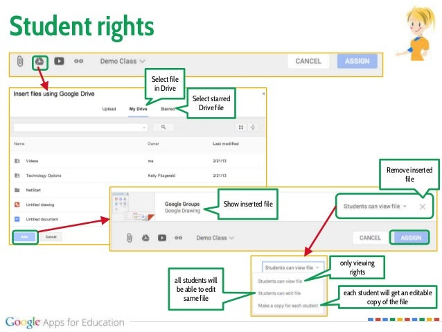 Student rights only viewing rights all students will be able to edit same file each student will get an editable copy of t...