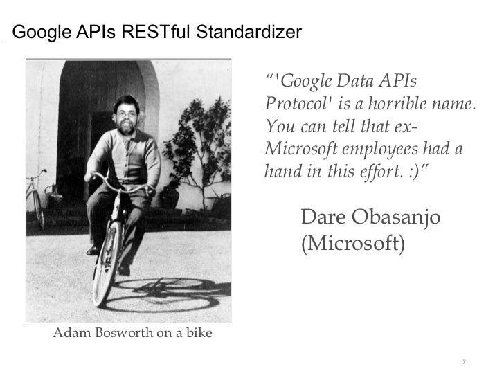 "Google APIs RESTful Standardizer                              ""Google Data APIs                              Protocol is a..."