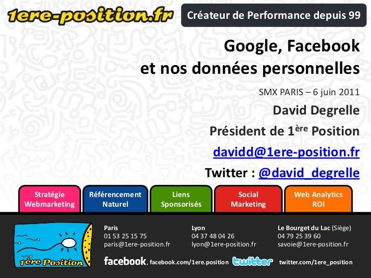 Créateur de Performance depuis 99                                        Google, Facebook                              et ...