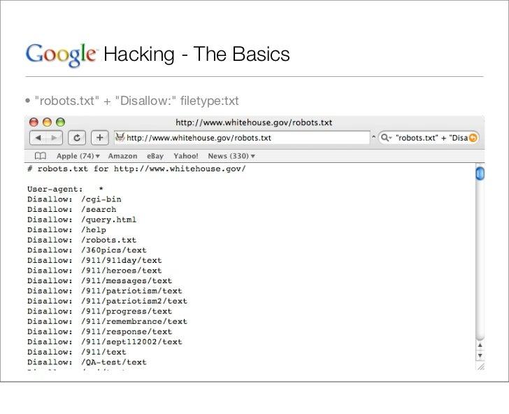 google hacking basics