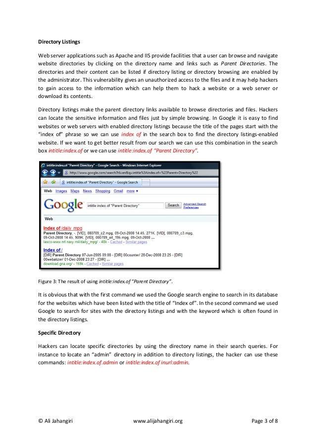 Google Hacking by Ali Jahangiri