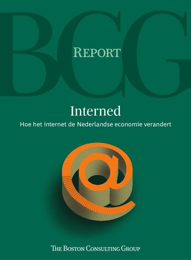 Report                InternedHoe het internet de Nederlandse economie verandert