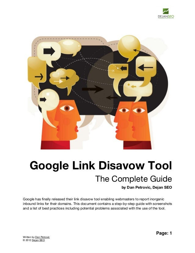 Google Link Disavow Tool                                             The Complete Guide                                   ...