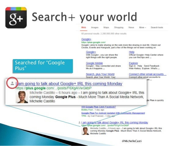 """Searched for """"Google Plus""""  @MichelleCasti"""