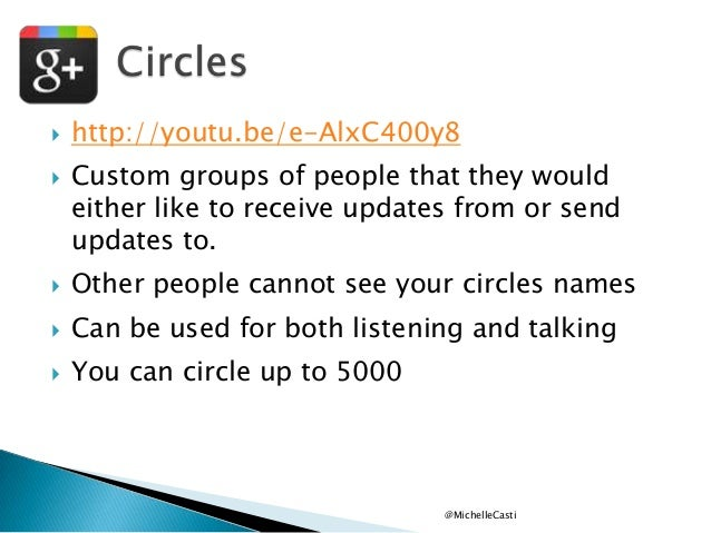    http://youtu.be/e-AlxC400y8 Custom groups of people that they would either like to receive updates from or send updat...