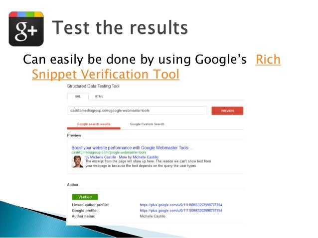"""Can easily be done by using Google""""s Rich Snippet Verification Tool"""