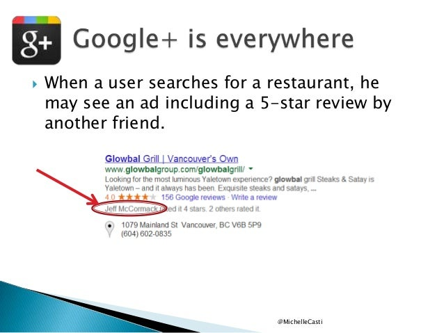   When a user searches for a restaurant, he may see an ad including a 5-star review by another friend.  @MichelleCasti