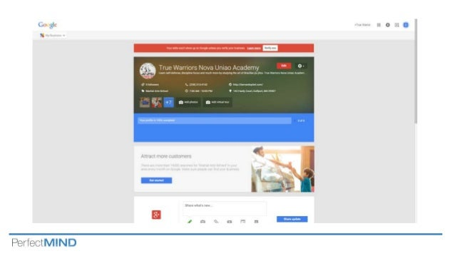how to create google my business page