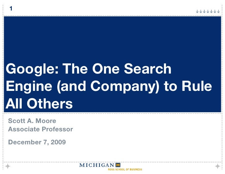 Google: The One Search Engine (and Company) to Rule All Others