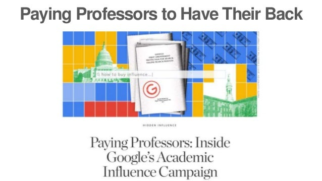 Paying Professors to Have Their Back