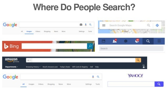 Where Do People Search?