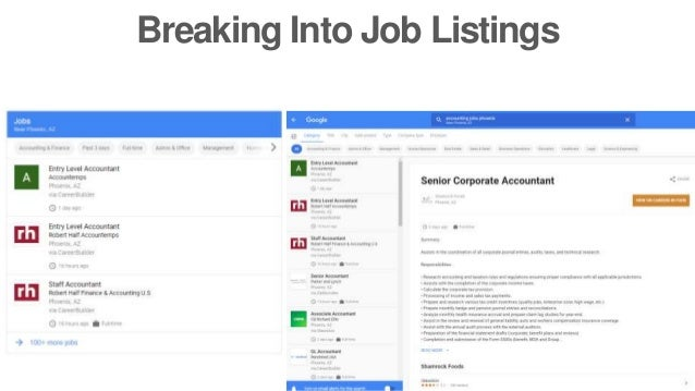 Breaking Into Job Listings